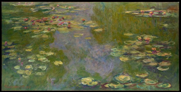 Water lilies, 1919, Claude Monet Claude Monet's Garden