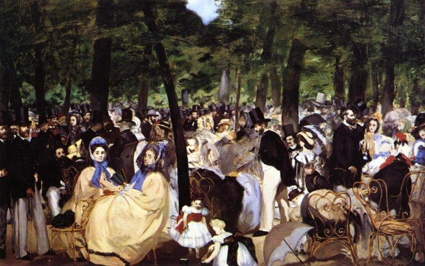 Music in the Tuileries by Édouard Manet Parisian landmarks