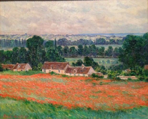 Field of Poppies, Giverny, 1885, Claude Monet Claude Monet's Garden