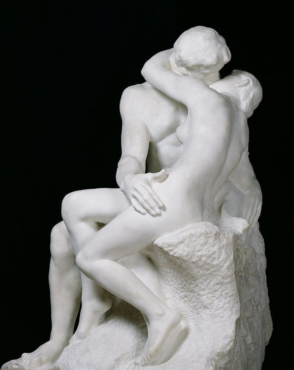The Kiss, Auguste Rodin, 1882, Musée Rodin, Paris, Happy 177th Birthday Rodin