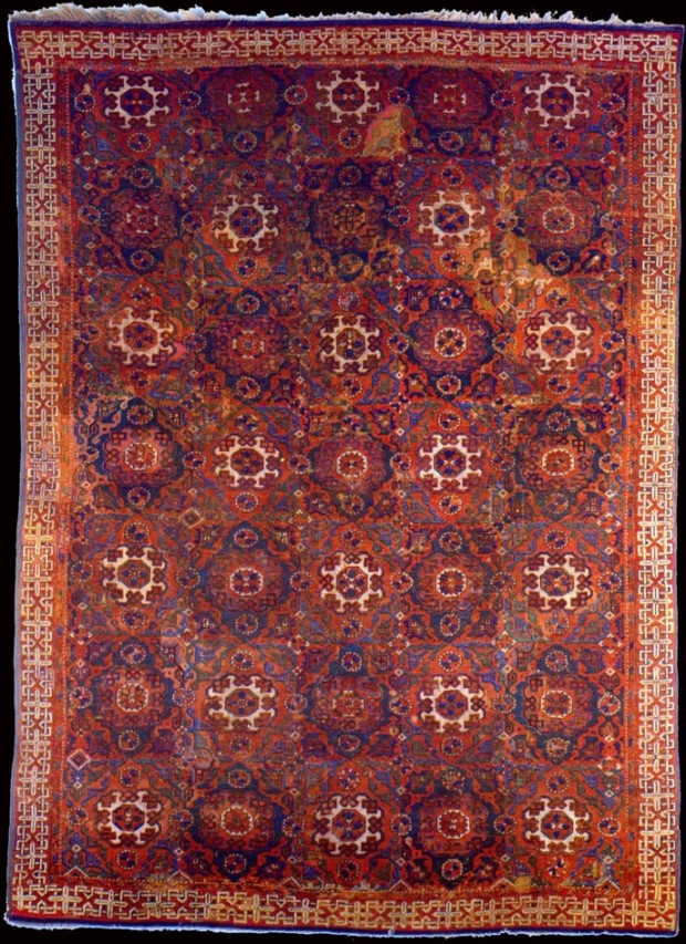 Small-pattern 'Holbein' Carpet, c. 1500, Turkey, wool, The Metropolitan Museum of Art, New York, ottoman carpets in Renaissance Paintings