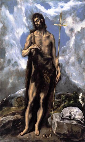 El Greco, St. John the Baptist, 1600, Fine Arts Museums of San Francisco, San Francisco, CA, US, saints attributes