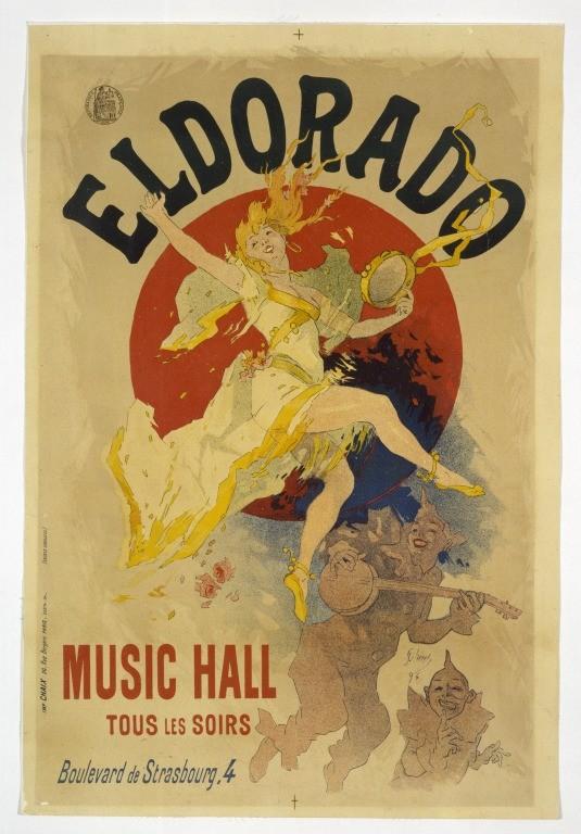 Posters 19th century Jules Cheret Eldorado Music Hall, V&A