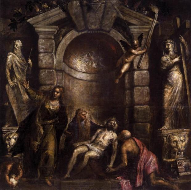 Titian. Pieta (1575). Venice, Galleria dell'Academia. Titian's Art in Venice