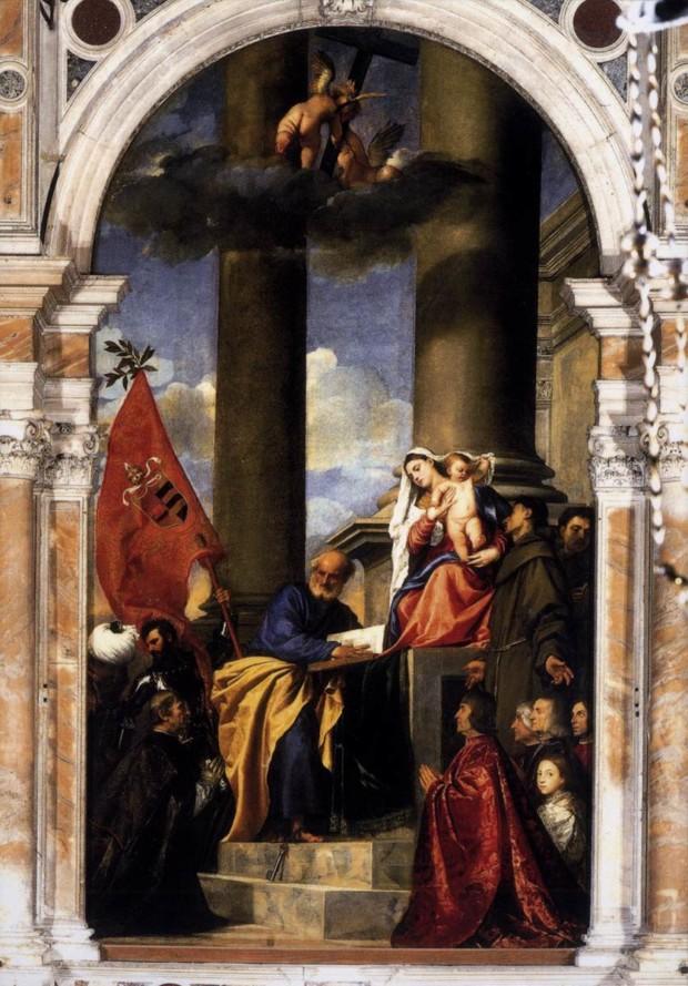 Titian, Pesaro Madonna, 1519–1526, Santa Maria Gloriosa dei Frari, Venice Titian's Art in Venice