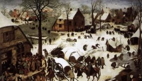 The Census at Bethlem, Peter Bruegel, 1566, Royal Museums of Fine Arts of Belgium, Summing up Christmas