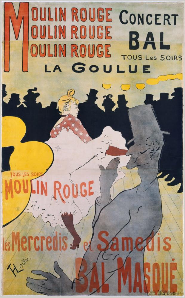 Posters 19th century Henri de Toulouse-Lautrec: Moulin Rouge: La Goulue, 1891, Metropolitan Museum of Art