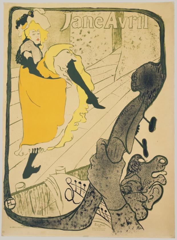 Posters 19th century Henri de Toulouse-Lautrec, Jane Avril, 1893, Metropolitan Museum of Art