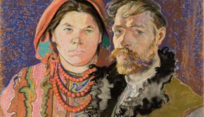 Stanisław Wyspiański, Autoportret z żoną, 1904 r. MNK