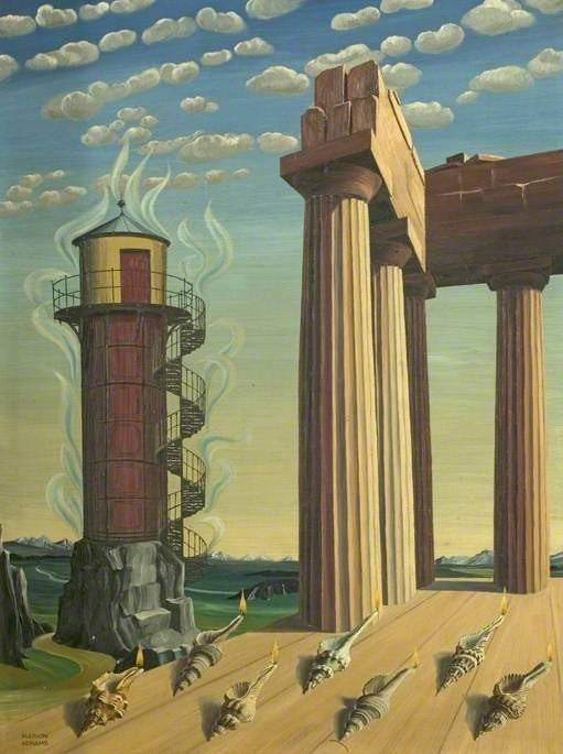 Adnams, Marion Elizabeth; The Seven Lamps; Derbyshire & Derby School Library Service; marion adnams surrealist