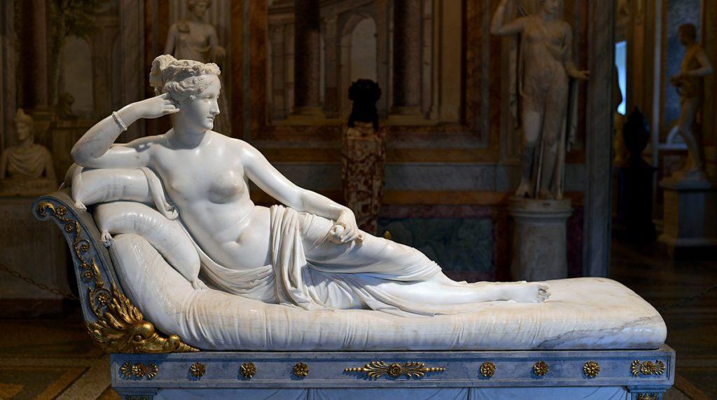 Antonio Canova, Paulina Borghese as Venus Victrix, 1805-1808, Galleria Borghese, Rome Art in BoJack Horseman