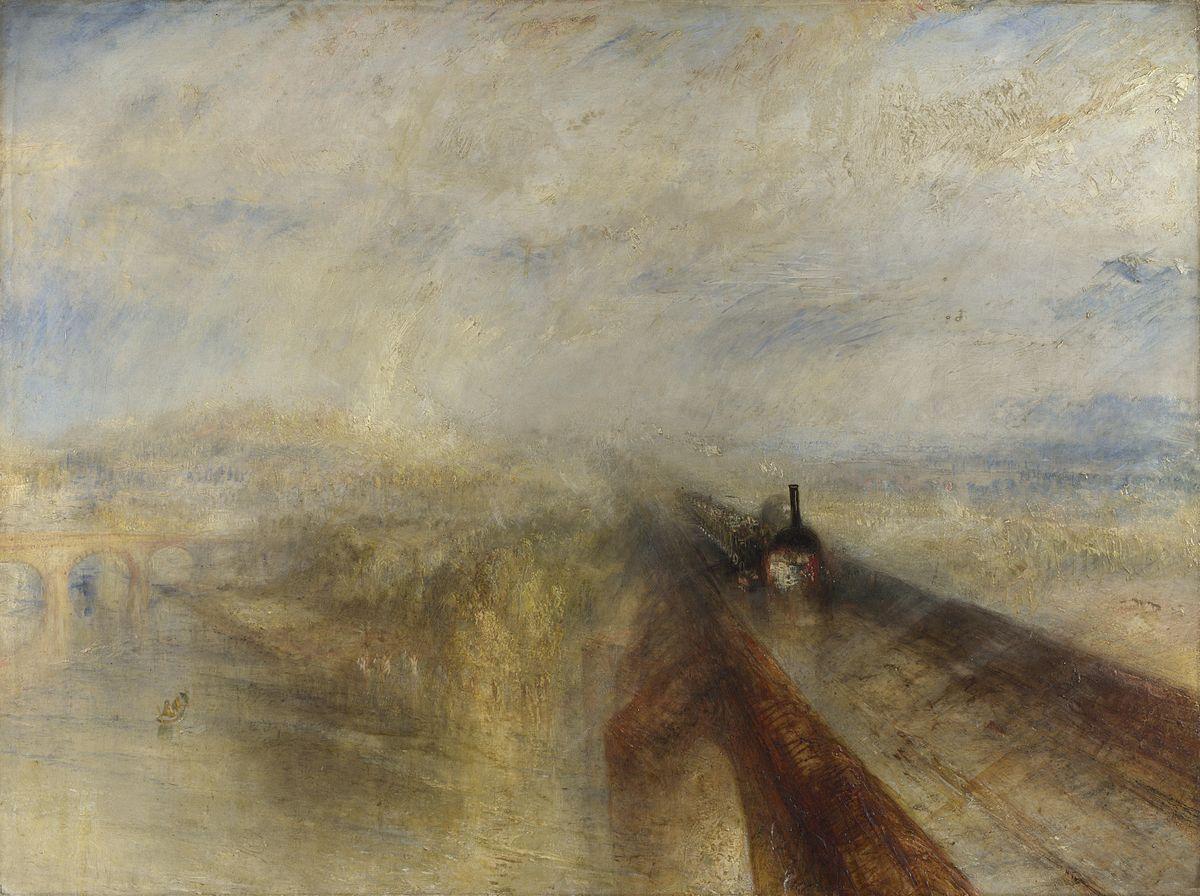 JMW Turner, Rain, Steam, and Speed - The Great Western Railway, 1844, National Gallery, london