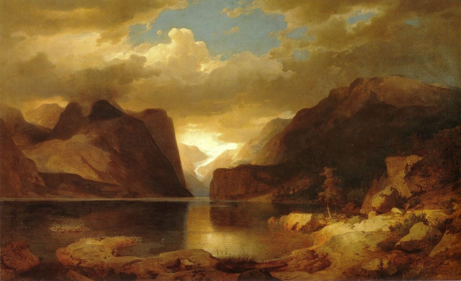 Andreas Achenbach The Hardanger Fjord. 1843 Location unknown 21st Century Grand Tour