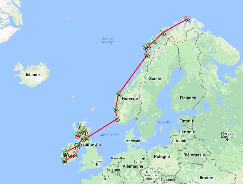 2 months, 30 destinations, 7000 kilometres