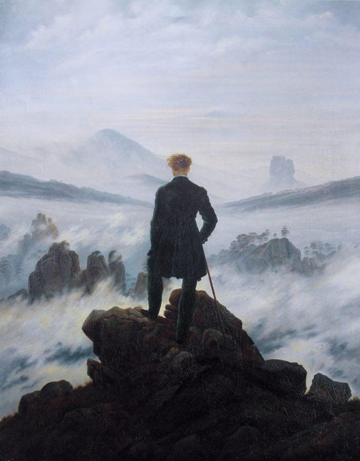 Caspar Friedrich, The Wanderer above the sea of fog, 1819 ©Kunsthalle Museum, Hambourg 21st Century Grand Tour