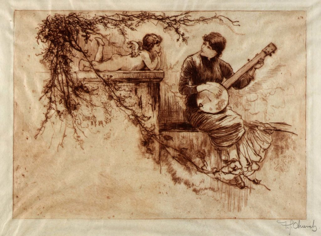 Frederick Stuart Church, A Symphony, Nineteenth Century, 1884, etching on parchment, Smithsonian American Art Museum, Museum purchase