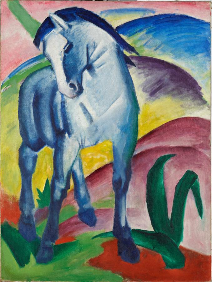 Art in BoJack Horseman Franz Marc, Blue Horse I, 1911, Städtische Galerie im Lenbachhaus, Munich