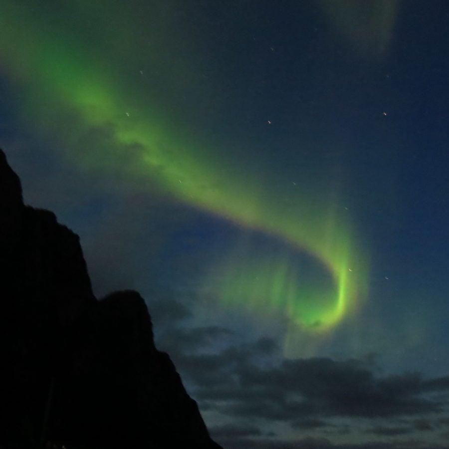 Northern Lights, from a beach, Lofoten Islands. ©Mr.Bacchus, 2016 21st Century Grand Tour