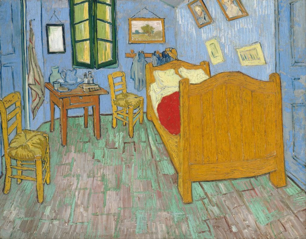 Vincent van Gogh's Bedroom Second version, September 1889.
