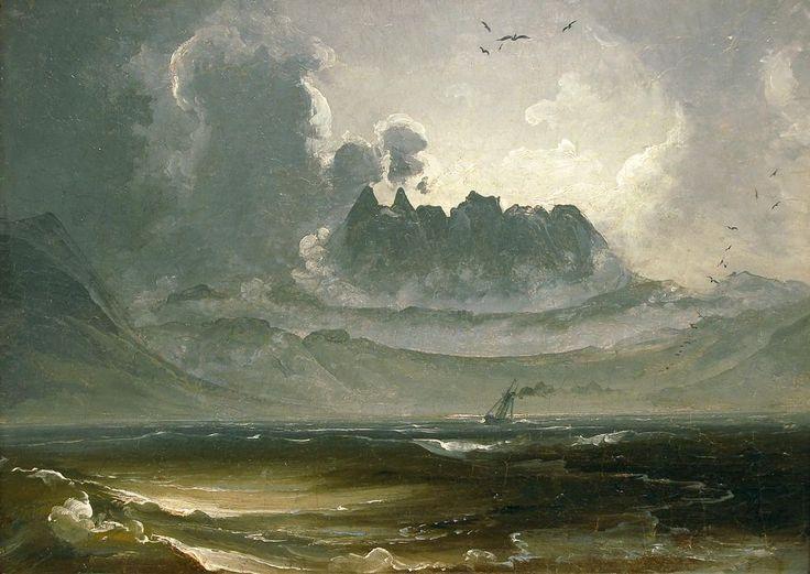 Peder Balke, Trolltindene, 1840. Foto: Nordnorsk Kunstmuseum.
