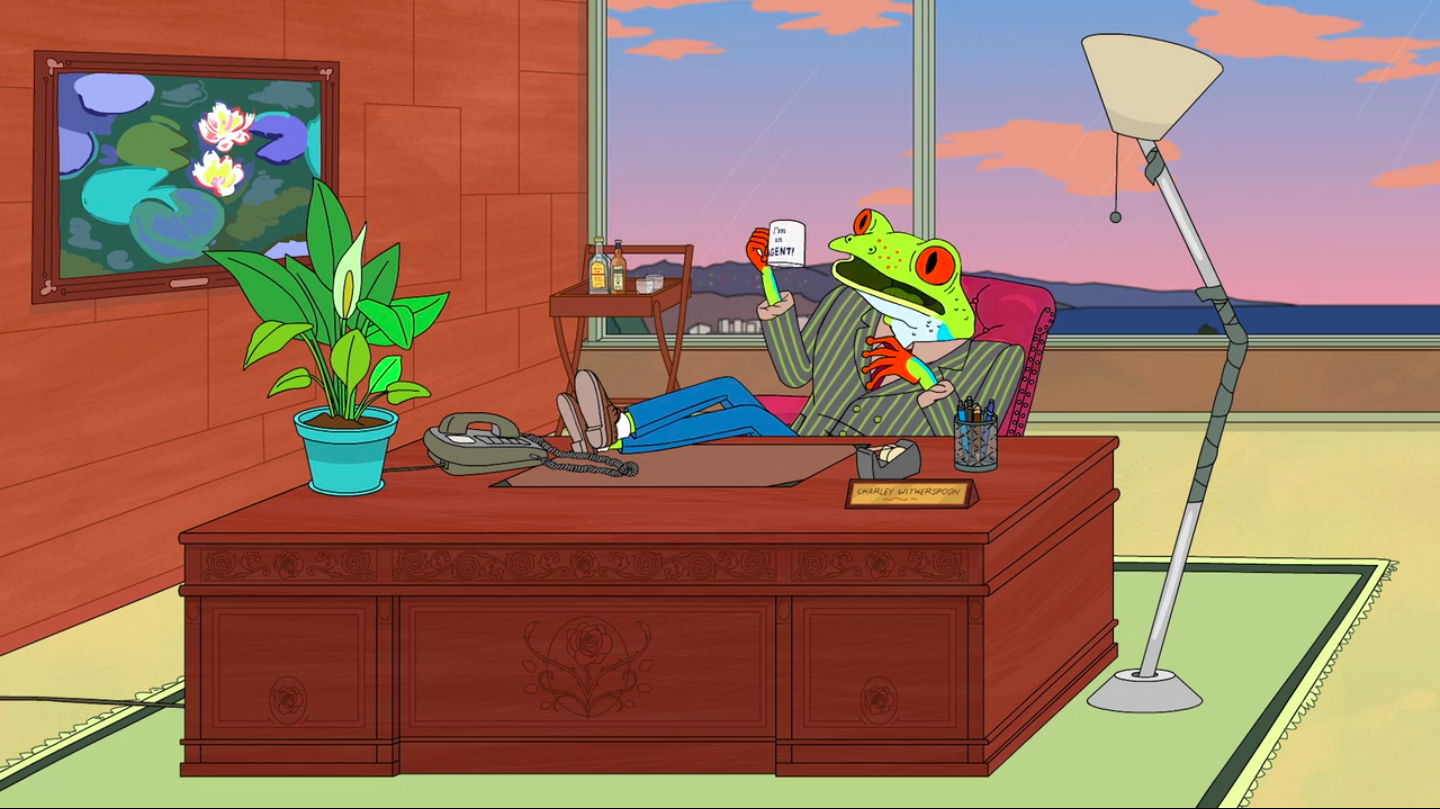 Art in BoJack HorsemanMonet at BoJack Horseman, season 02 episode 01