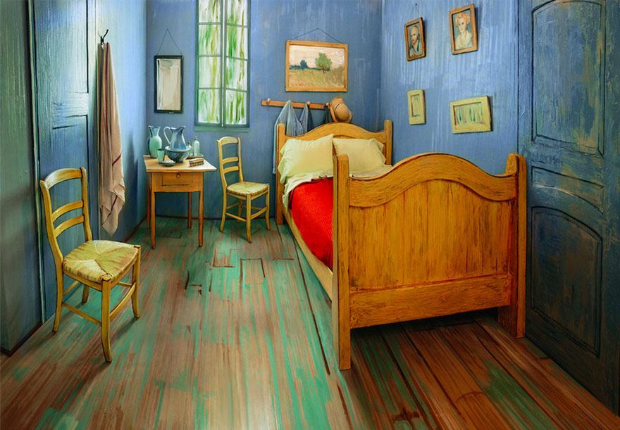 Vincent van Gogh's Bedroom Van Gogh's Bedroom replica at Art Institute of Chicago