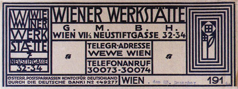 WW letterhead designed by Koloman Moser, source: https://www.theviennasecession.com, ww the viennese design brand