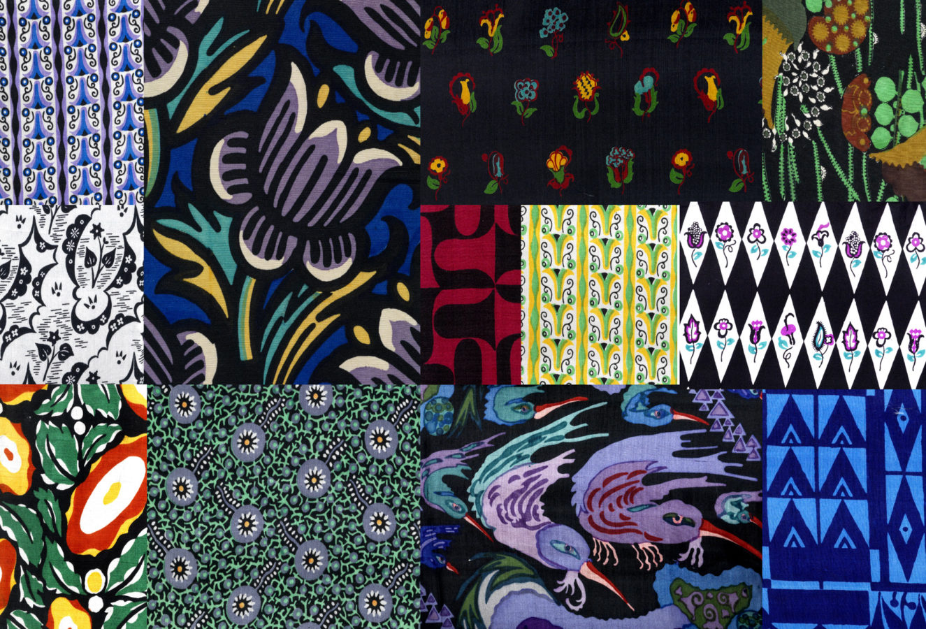 """Copyright DorotheumDownload High Res A selection of 56 textile patterns of the """"Wiener Werkstätte"""", circa 1920/25, Copyright Dorotheum, ww viennese design brand"""