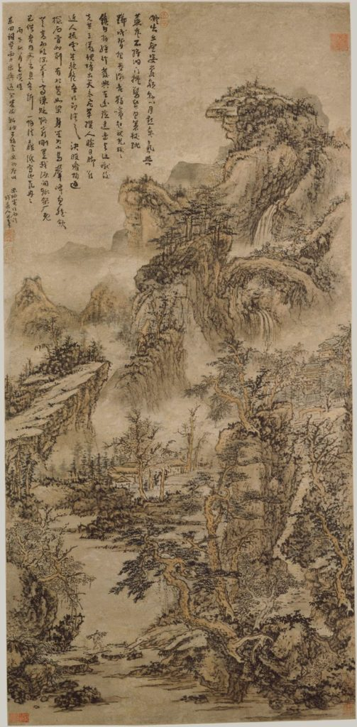 Wooden Mountains at Dusk by Kun Can 1666