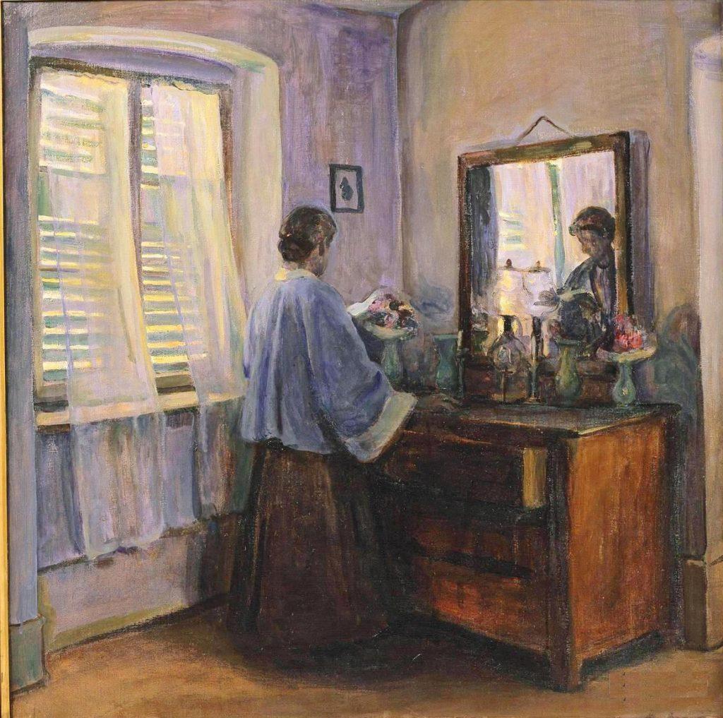 Elizabeth Nourse the premier woman artiste Les volets clos, 1910, Musee du Luxembourg