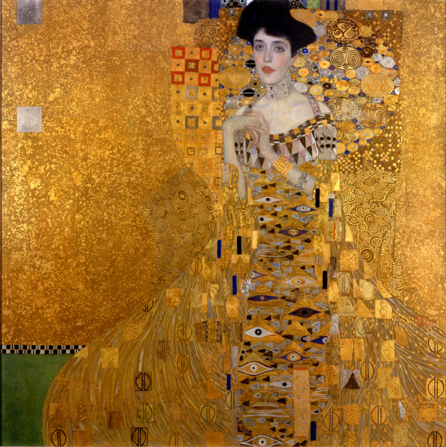 Why is Klimt famous, Gustav Klimt, Portrait of Adele Bloch-Bauer I (also called The Lady in Gold or The Woman in Gold), 1903-07, Neue Galerie, New York