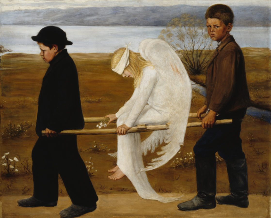 Hugo Gerhard Simberg, The Wounded Angel, Ateneum, Helsinki Wounded Angel By Hugo Simberg