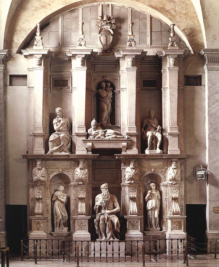 Michelangelo, tomb of Pope Julius II, San Pietro in Vincoli, Rome, Lazio, Italy