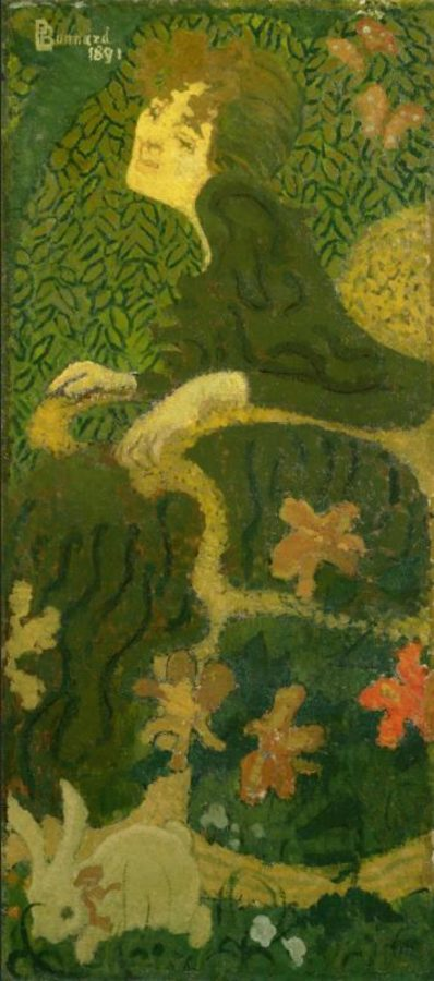 Pierre Bonnard, Young Girl Sitting with a Rabbit, 1891, The National Museum of Western Art, Tokyo