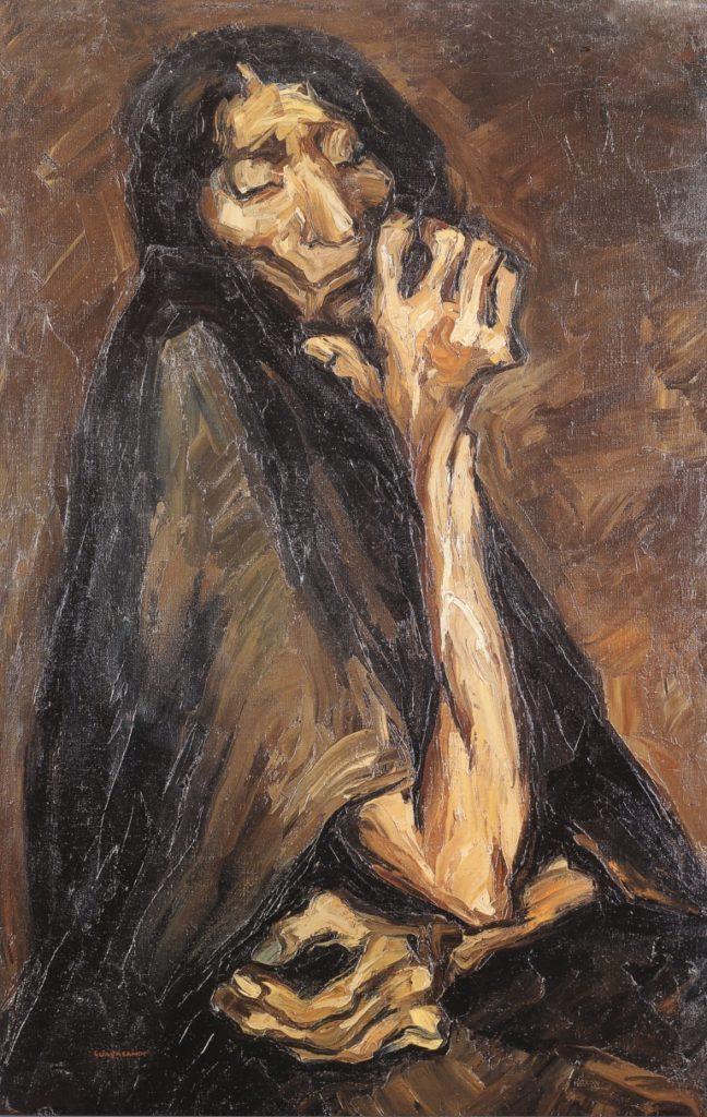La vieja (The Old Woman), Oswaldo Guayasamín, 1941, Fundación Guayasamín, Through the Eyes of Oswaldo Guayasamín