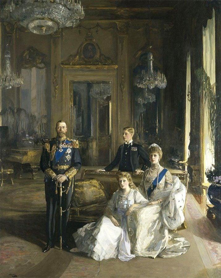 John Lavery, Royal Family, George V, 1913 British royal portrait