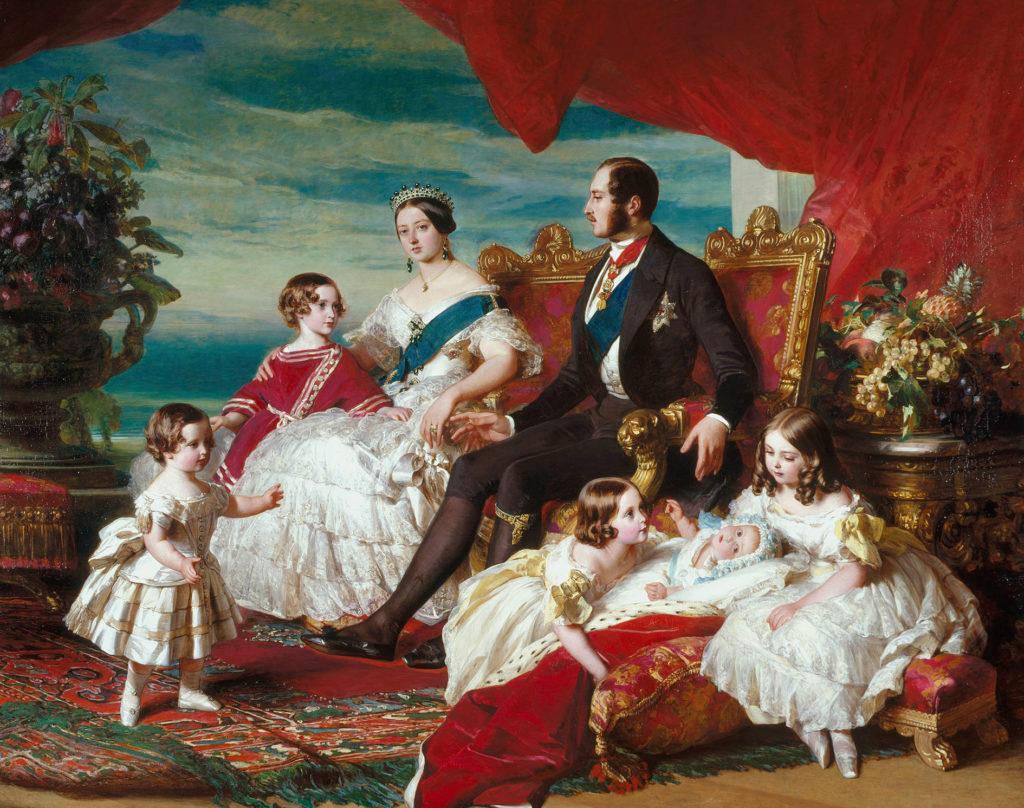 Franz Xaver Winterhalter, Royal Family portrait, 1846, Royal Collection Trust; East Gallery, Buckingham Palace