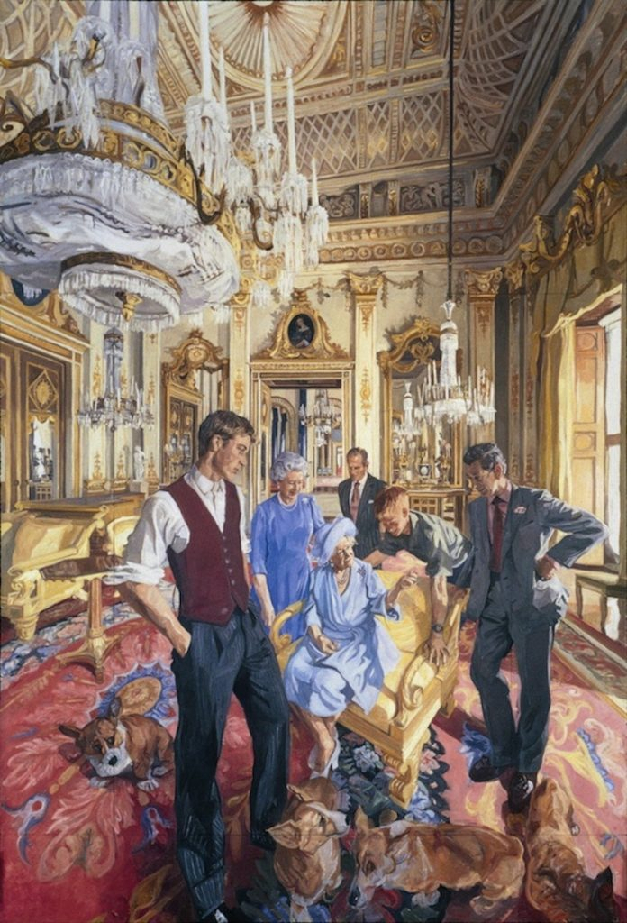 John Wonnacott, Royal Family, 2000, Royal Society of Portrait Painters; National Portrait Gallery British royal portrait