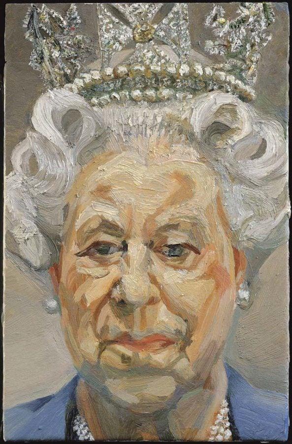 Lucien Freud, Elisabeth II, 2000, National Portrait Gallery  British royal portraits