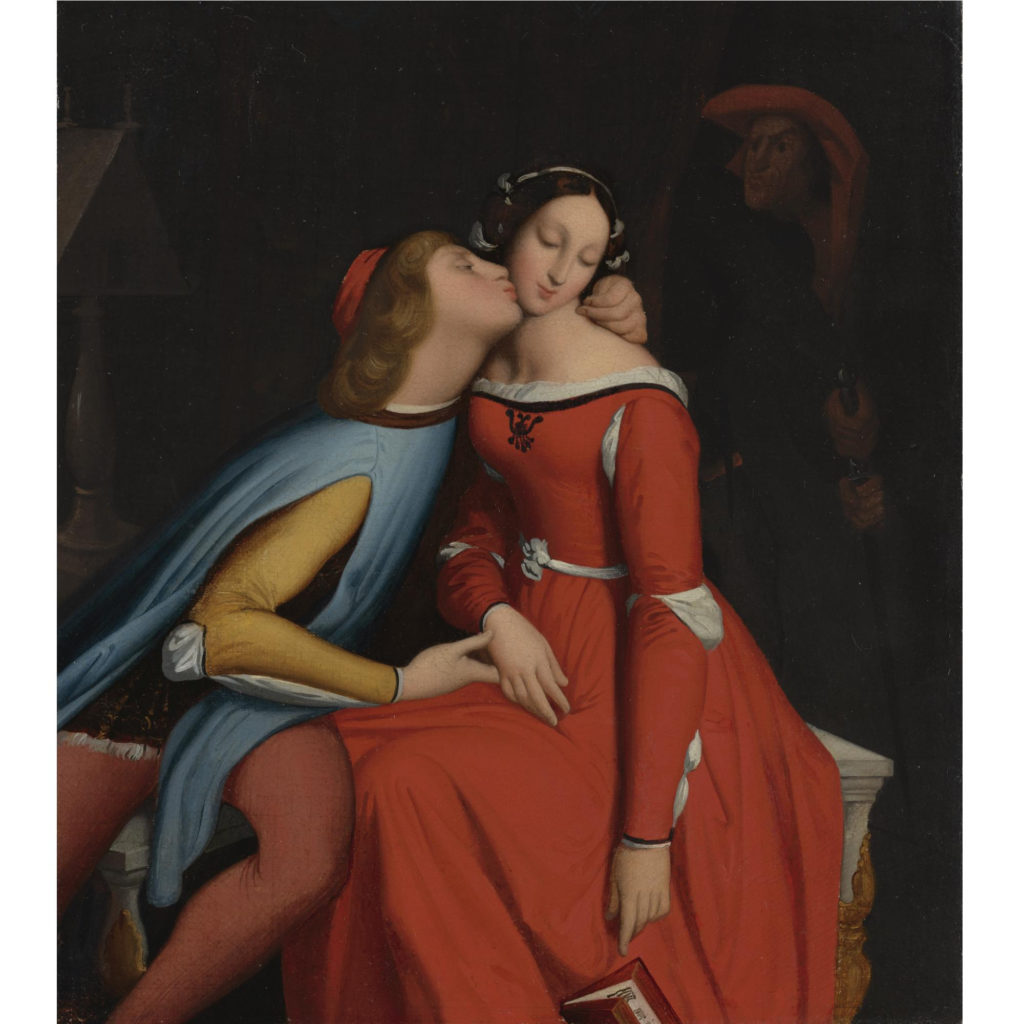 Paolo and Francesca, Jean Auguste Dominique Ingres, 1856-60, Hyde Collection