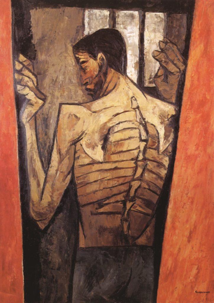 Oswaldo Guayasamín, Prisionero (Prisoner), 1949, oswaldo guayasamín art