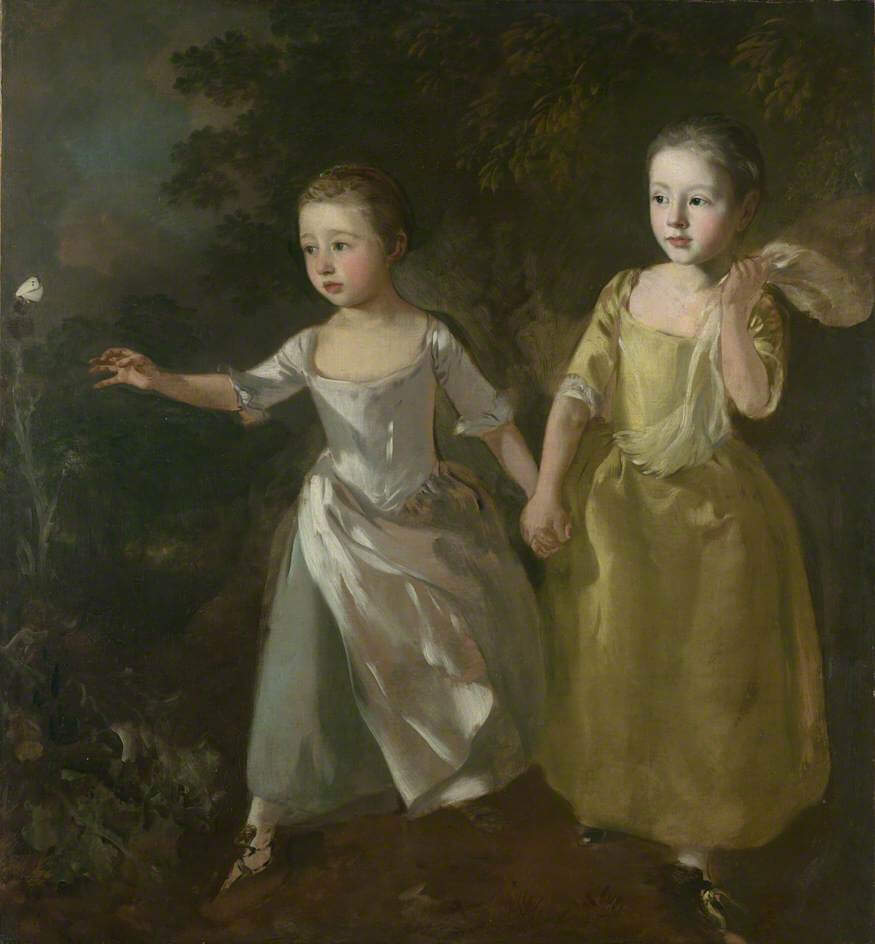 The Painter's Daughters Chasing a Butterfly Gainsborough's daughters