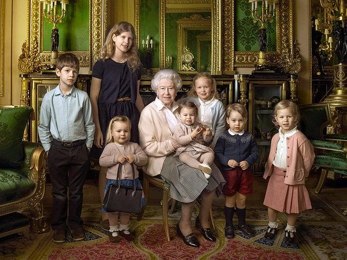 Queen Elizabeth II, Family, portrait, photograph, Annie Liebowitz British royal portrait