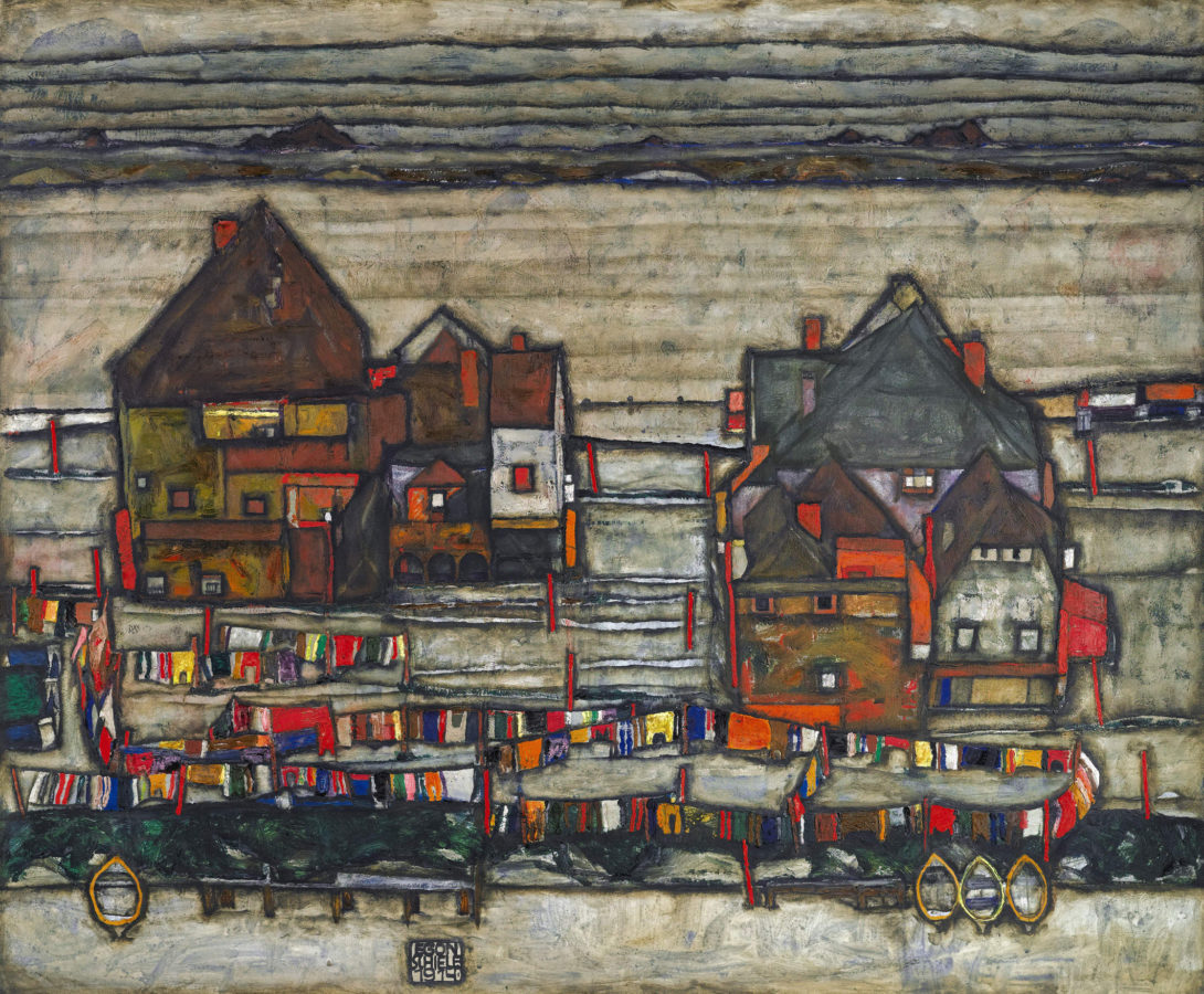 Seven Haunting Town Paintings by Egon Schiele