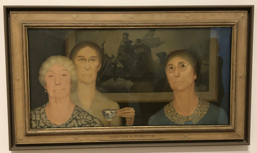 Grant Wood, 'Daughters of Revolution,' 1932 grant wood exhibit in the whitney museum in new york city