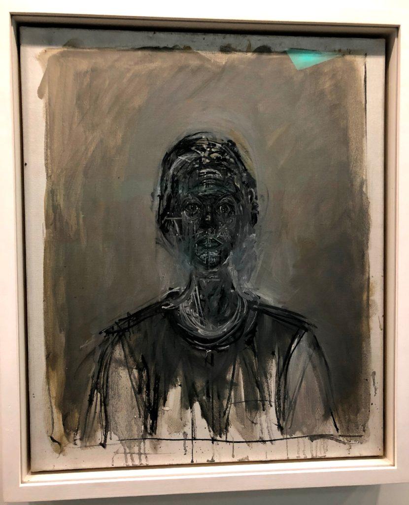 Alberto Giacometti, Black Annette, 1962, oil on canvas, Foundation Giacometti, Paris. Giacometti exhibit in the Guggenheim