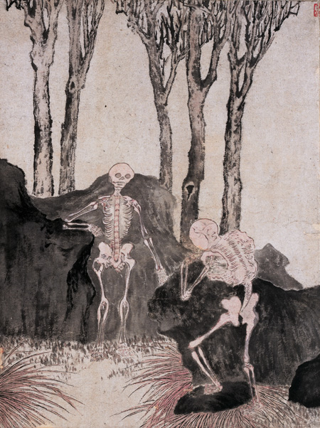 """Luo Ping, painting fromhandscroll """"Ghost Amusement"""", ink on paper, ca. 1766, private collection"""