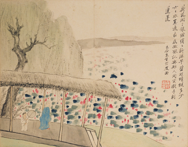 Luo Ping painter Jin Nong, Figures and Landscapes, after Poems, 1759, Palace Museum, Beijing