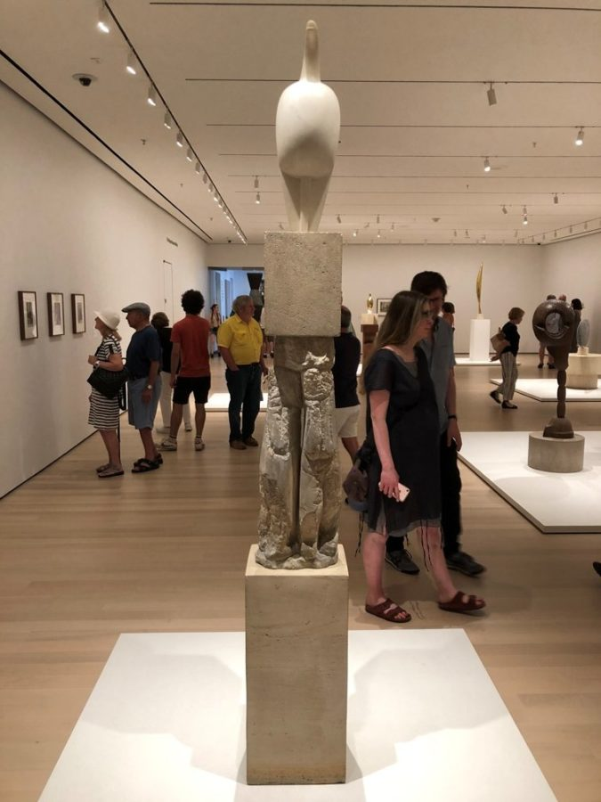 Sculptures of Constantin Brancusi, Museum of Modern Art, second floor. Photo by Howard Schwartz.