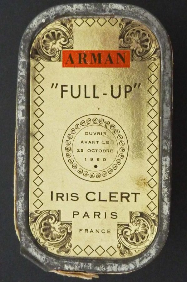 Arman, Invitation for Le Plein exhibition, tuna cans, 1960. Source: gildensarts.com